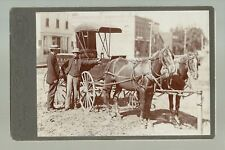 Sleepy Eye MINNESOTA c1890 DR. WARDS MEDICINE DELIVERY WAGON Salesman Winona