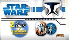 Star Wars - Collectable 2 x Alu Tags & necklace or Wristband pack - *FREE P+P*