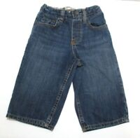 TODDLER BOYS BABY GAP BLUE DENIM LOOSE FIT JEANS PANTS SIZE 12-18 MONTHS