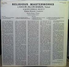 Cantor Jacob Barkin - Religious Masterworks LP New Sealed 71 752094 Vinyl Record
