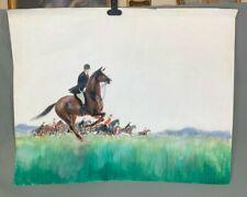 Fox Hunting Watercolour Sketch Study a Fast Day by W Owen Ward