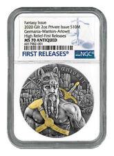 2020 Germania Ariowit 10 Mark 2 oz Silver HR Antiqued Medal NGC MS70 FR