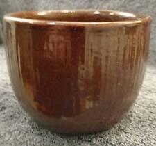 """MINT DARK BROWN 4"""" HIGH X 5-1/4"""" WIDE Zanesville Stoneware 4504 pottery planter"""