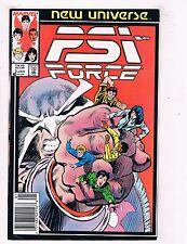 PSI Force #3 VF Marvel Comics New Universe Comic Book Jan 1987 DE45