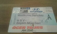 Ticket HSV - FC Bayern München, Sammelkarte, Hamburger SV,  Ultras, 1996, FCB