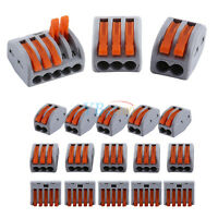 20pcs 2/3/5 Way Reusable Spring Lever Terminal Block Cable Wire Connector New