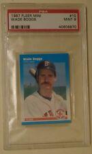 1987 #10 Wade Boggs Fleer mini PSA 9 RARE GRADED Boston Red Sox HALL OF FAMER