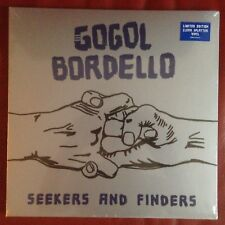 Gogol Bordello ‎– Seekers and Finders US SEALED LP Clear w/ blue splatter