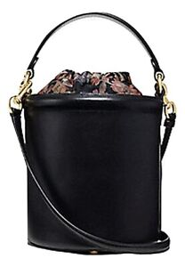 Coach Drawstring Bucket Bag Black MSRP: $350.00