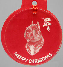 Bouvier Dog Ornament, Lucite,