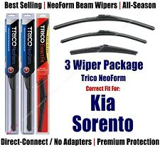 3-Pack Wipers Front & Rear NeoForm - fit 2011-2015 Kia Sorento 16240/200/11A