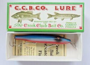 C.C.B.CO. Creek Chub Pikie orange blue silver scale fishing lure Limited Edition