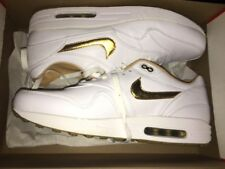 NIKE Air Max 1 One FB Woven Neu leather White/Gold Gr:46 Sneaker 90 95 97 NZ