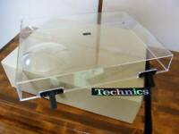 Technics SL-1200 series dust cover clear genuine with Hinge DJ Turn Table F/S