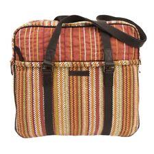 Women's Tote Handbag Bohemian Orange Large Travel Shoulder Bag Zip Pockets