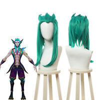 League Of Legends LOL Star Guardian Rakan Cosplay Wig Green Cosplay Party Hair