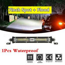 7'' 90W Car Truck Pickup LED Work Light Bar 9000LM 6000K Spot Flood Combo Beam