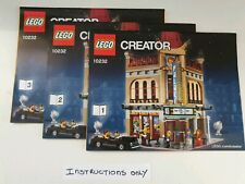 Lego Creator Palace Cinema 10232 ☆INSTRUCTIONS ONLY ☆ New
