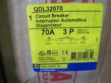 Square D Qdl32070 3 Pole 70 Amp 240 Volt Circuit Breaker New