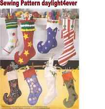 Christmas Decorating 8 Styles Stocking Sewing Pattern 2991 McCall's New #v