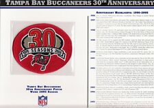 2005 TAMPA BAY BUCS 30TH ANNIVERSARY OFFICIAL JERSEY PATCH WILLABEE WARD