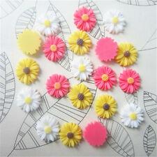 30pcs DIY Mix Resin Sunflower flower flat back Scrapbooking For phone/ craft