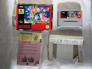 Super Nintendo SNES Game Super Bomberman 3 PAL Boxed with Manual