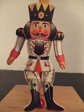 VINTAGE WOOD NUTCRACKER KING /SOLDIER MOVEABLE CHRISTMAS TREE ORNAMENT