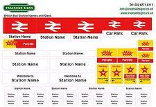 British Rail Model Railway Station Name Signs - O Gauge (7mm) Trackside Signs