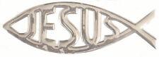 Jesus Fish 3D Emblems Chrome PVC Ichthys IXÈYÓ Christian Symbol