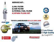 Per TOYOTA Landcruiser 80 4.5 FZJ80 1995 - > ARIA OLIO COMBUSTIBILE 3 FILTRO + CANDELE