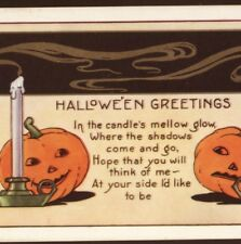"MINT!...WHITNEY,HALLOWEEN,JOL'S,CANDLES ""WHERE THE SHADOWS COME & GO"" POSTCARD"
