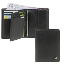 Esquire Herrenbörse Leder schwarz mit 14 Kartenfächern und RFID Schutz