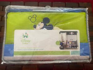 New DISNEY Baby Go Mickey Diaper Stacker, Nursery, Blue Green, 200 Thread Count