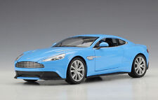 Welly 1 24 Aston Martin Vanquish Diecast Model Car Blue