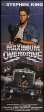 "Original 1987 MAXIMUM OVERDRIVE Huge French Door Panel 46"" X 117"" EMILIO ESTEVEZ"