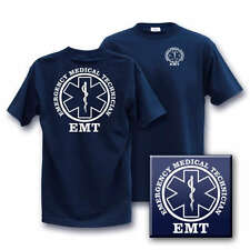 EMT Large EMERGENCY MEDICAL TECH Fire E M T med T-Shirt