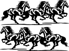 "Running Horses Vinyl Car Decals Truck or Trailer Stickers (2 - 30"" x 11"")"