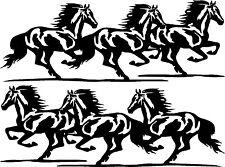 """Running Horses Vinyl Decals Sickers (30"""" x 11"""" Design 05)"""