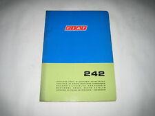Original Ersatzteilkatalog Karosserie Fiat 242 Ersatzteilekatalog