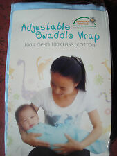 Brand new Adjustable Baby Infant Swaddle Wrap - BLUE (4-9months)