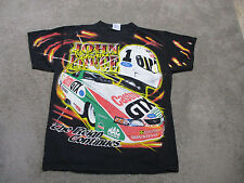 VINTAGE John Force Nascar Racing Shirt Adult Large Black Double Sided Mens 90s
