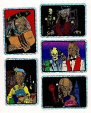 Tales From The Crypt 1994 Vending  Prism Sticker Card Set A (5)
