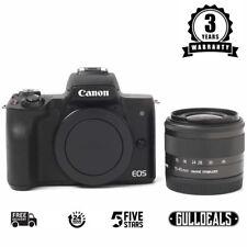 Canon EOS M50 Mirrorless Black Digital Camera w/ 15-45mm IS STM Lens UK DISPATCH