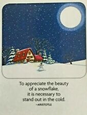 Mary Engelbreit Handmade Magnet-To Appreciate The Beauty Of A Snowflake