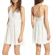 New Soprano White Lace Skater Dress Sz Small