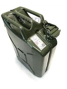 Wavian Steel NATO Style Jerry Can 20L / 5 Gal. European Military Spec GJC20 New