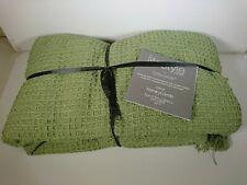 Throw Large Green Emma Barclay Pistachio 177cm x 254cm Lifestyle Bed Sofa Chair
