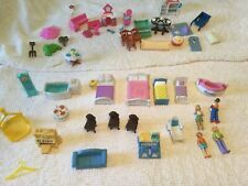 Mix Lot Mattel Fisher Price Other Plastic Dollhouse Furniture Figures Office Br