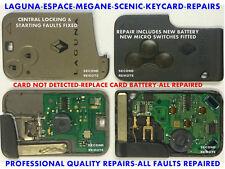 Servizio Riparazione Per Renault Tessera magnetica Laguna,Megane,Espace,Scenic
